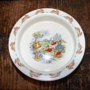 Bunnykins Royal Doulton Playing on the River 1970s Porridge Bowl