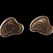 Vintage Swirled Stone Cufflinks