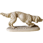 A. Santini Hunting Dog Irish Setter Statue