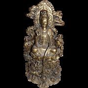Large Heavy Brass Buddha Statue