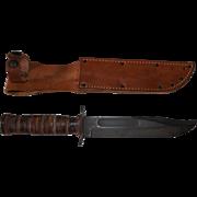 Vintage US Utica Cut KABAR Combat Knife