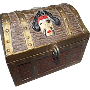 Vintage E.J. Kahn Metal Treasure Chest Kids Piggy Bank