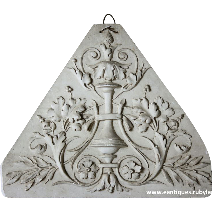 19th century French Architecturaal Cast Plaster Sample - Plaque
