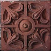 Antique Victorian Terracotta Facade Brick - 19th Century Architectural Salvage Element