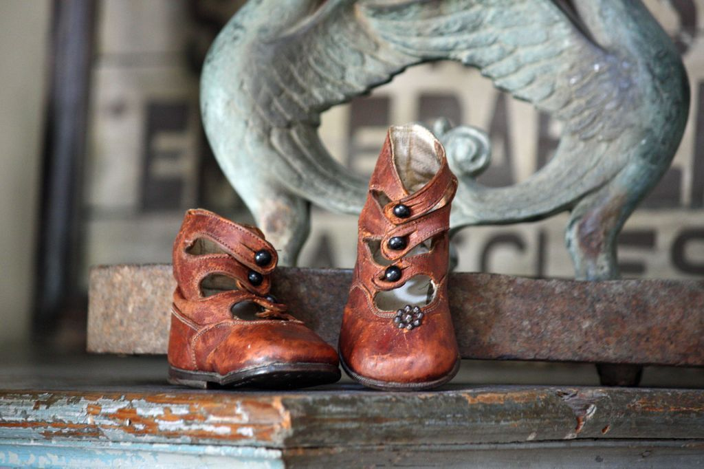 19th Century Child's Shoes - Antique Baby Boots