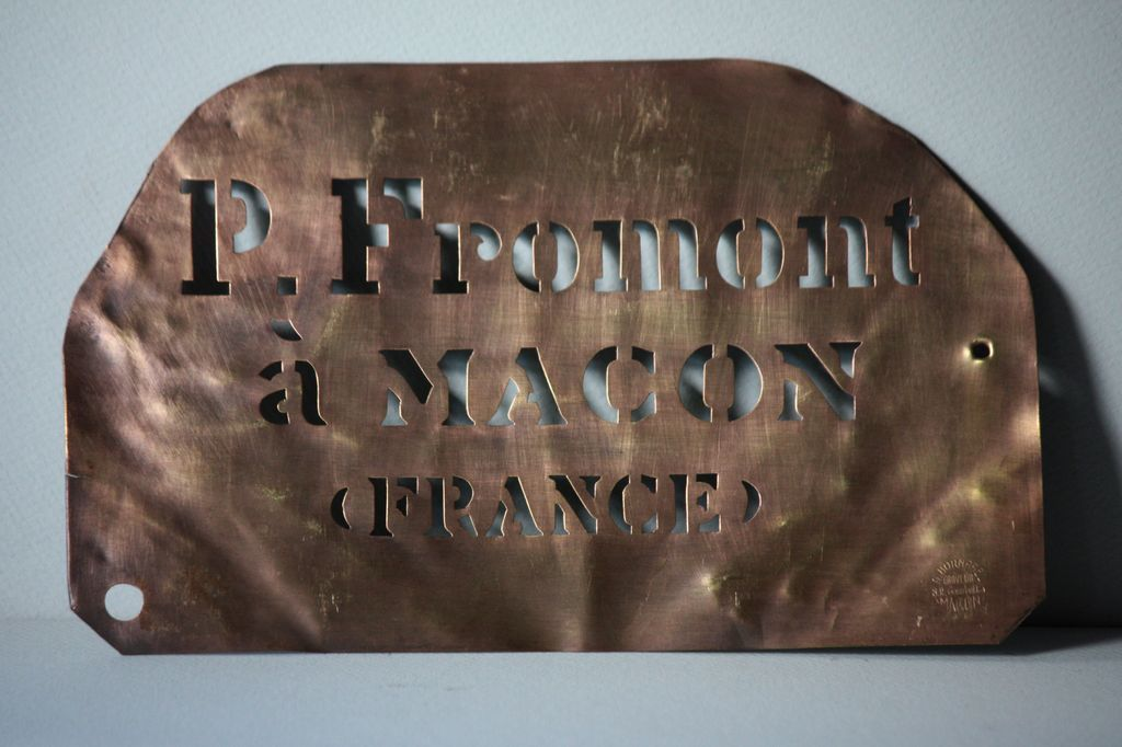 Antique French Copper Metal Wine Merchants Crate Stencil ...