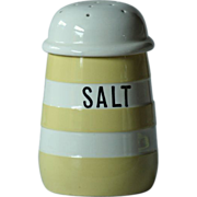 T. G. Green YELLOW Banded Cornish Ware SALT Shaker - Cornishware