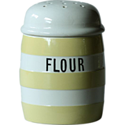 T. G. Green YELLOW Banded Cornish Ware FLOUR Shaker - Cornishware