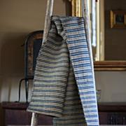 Antique European Handloomed Hemp Textile