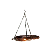 LARGE Antique Georgian English Hanging Copper Scales Pan - 19th Century