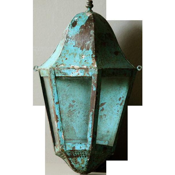 19th Century French Wall Lantern - Antique Lighting