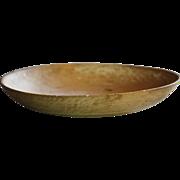 19th Century Cream Skimmer - Antique Primitive Treen Dairy Bowl