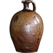 Antique French Earthenware Oil Jug - 19th Century Primitive Cruche