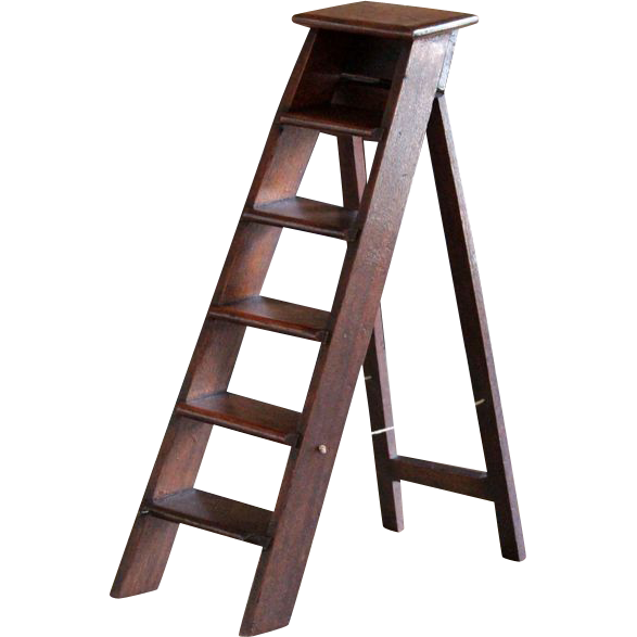 Antique English Miniature Step Ladder 19th Century