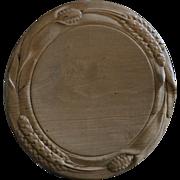 19th Century English Carved Breadboard- Antique Treen Bread Board #2