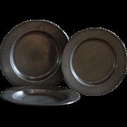 Antique English 18th Century Pewter Plates