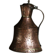 Antique Ottoman Copper Ibrik - Water Pitcher / Ewer / Kettle