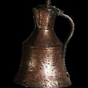 Antique Ottoman Copper Ibrik - Water Pitcher / Ewer / Kettle