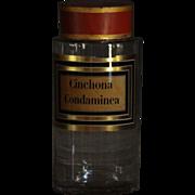 19th Century French Glass Apothecary / Chemist Jar - Antique Pharmacy Jar