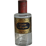19th Century French Glass Apothecary / Chemist Bottle - Antique Pharmacy jar #2