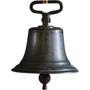 Antique English Bronze Bell - 19th Century Board of Trade Bell