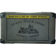 Vintage English LAUNDRY Storage Advertising BOX - Royal WIndsor Laundry