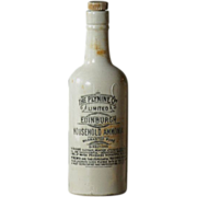Antique British Stoneware Household Ammonia Bottle - Advertising