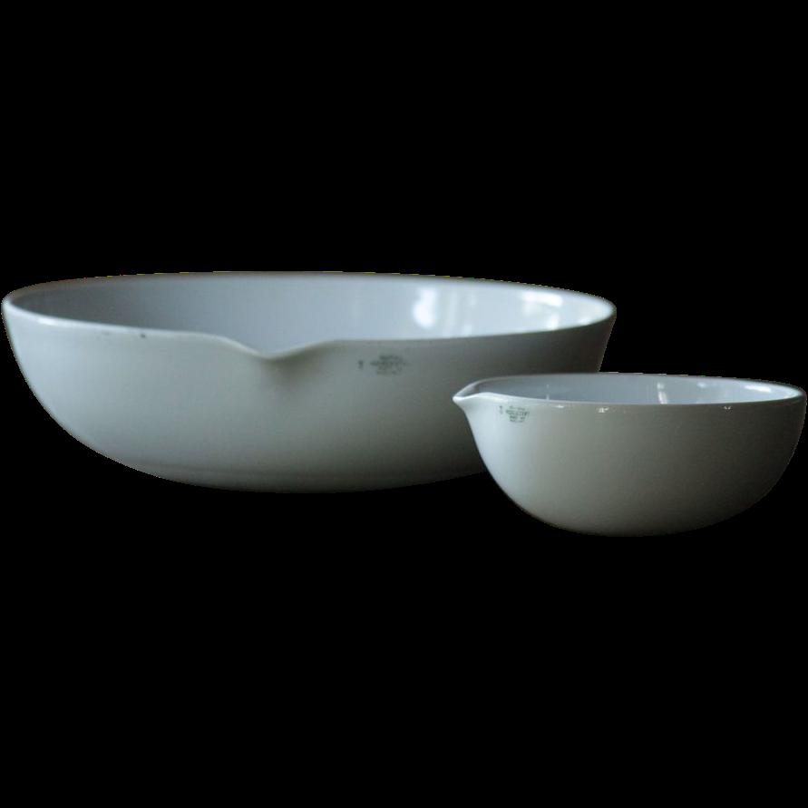 Vintage English Laboratory Crucibles / Evaporating Dishes ...