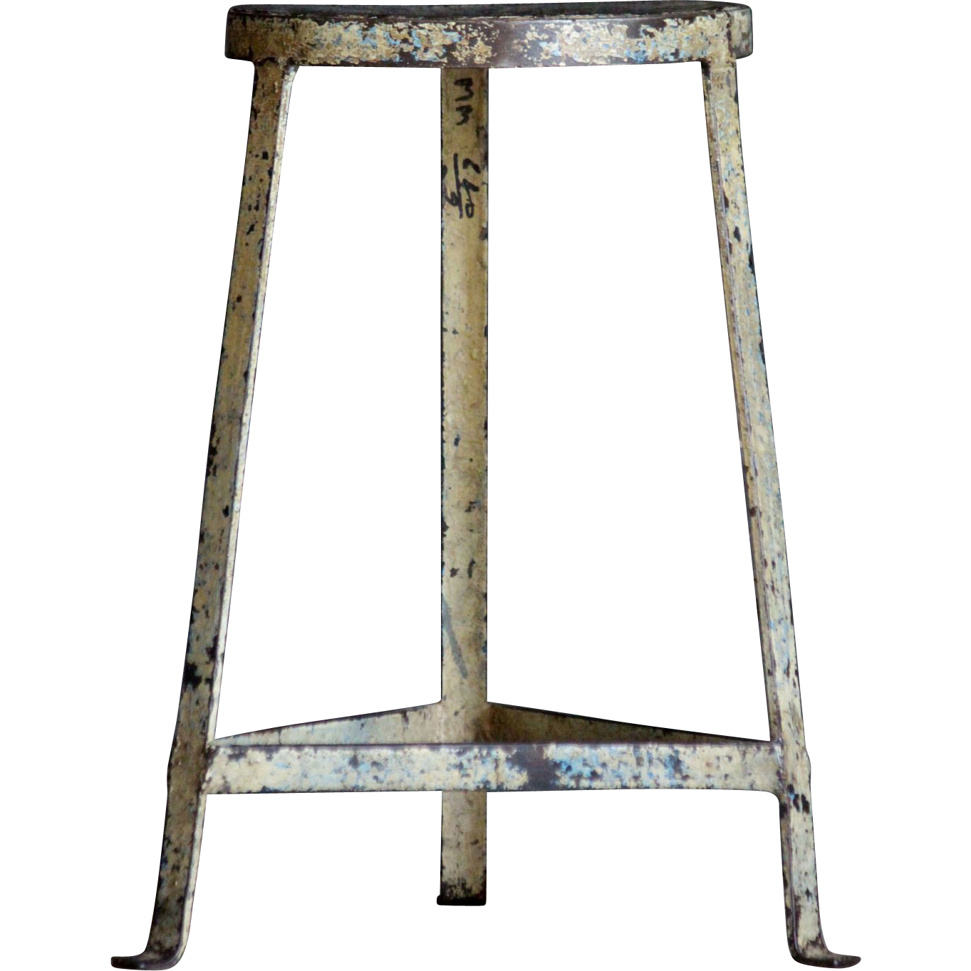Salvaged Vintage Industrial Metal Stool / Chair