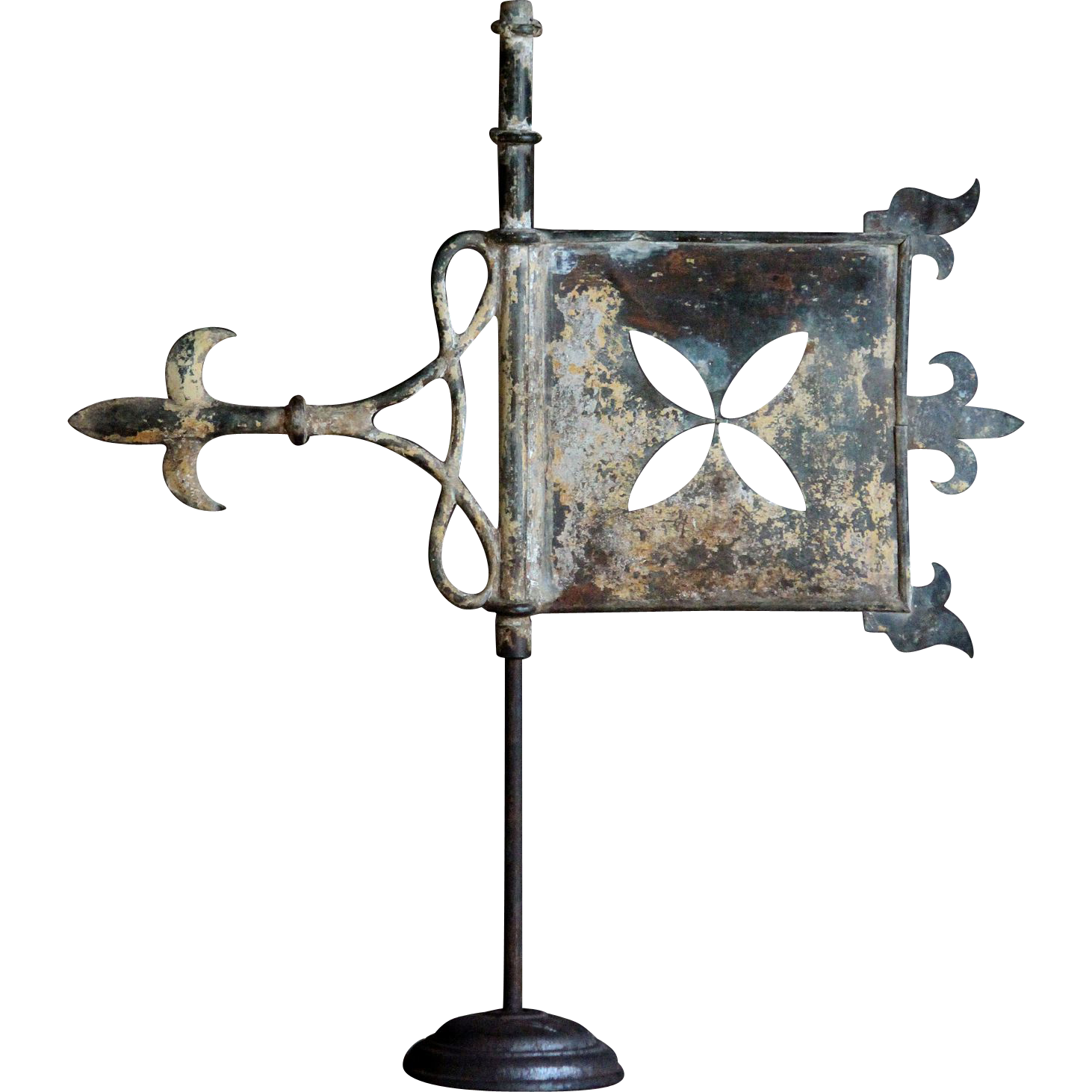 Antique French Copper weathervane - 19th C Bannerette / Banner