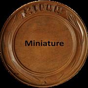 Antique MINIATURE English Carved Breadboard - Salesman's / APPRENTICE Treen Bread Board