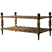 Antique English Treen Egg Stand / 19th Century Wooden Egg Rack