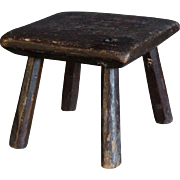 SMALL - 19th Century Folk Art Painted Stool