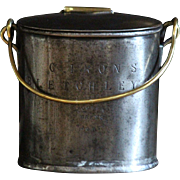 19th Century English Brass & Steel Dairy Milk Can