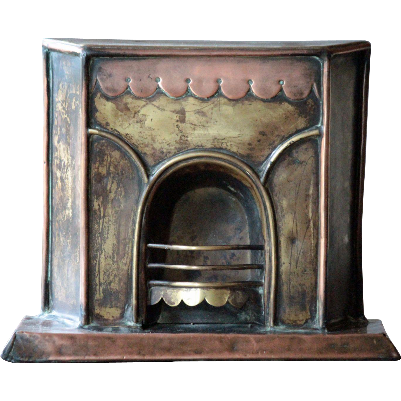 "Antique English SALESMAN""S Miniature FIREPLACE Model - Shop Advertising Architectural Sample"
