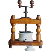 Antique 19th Century French Duck Meat Food PRESS