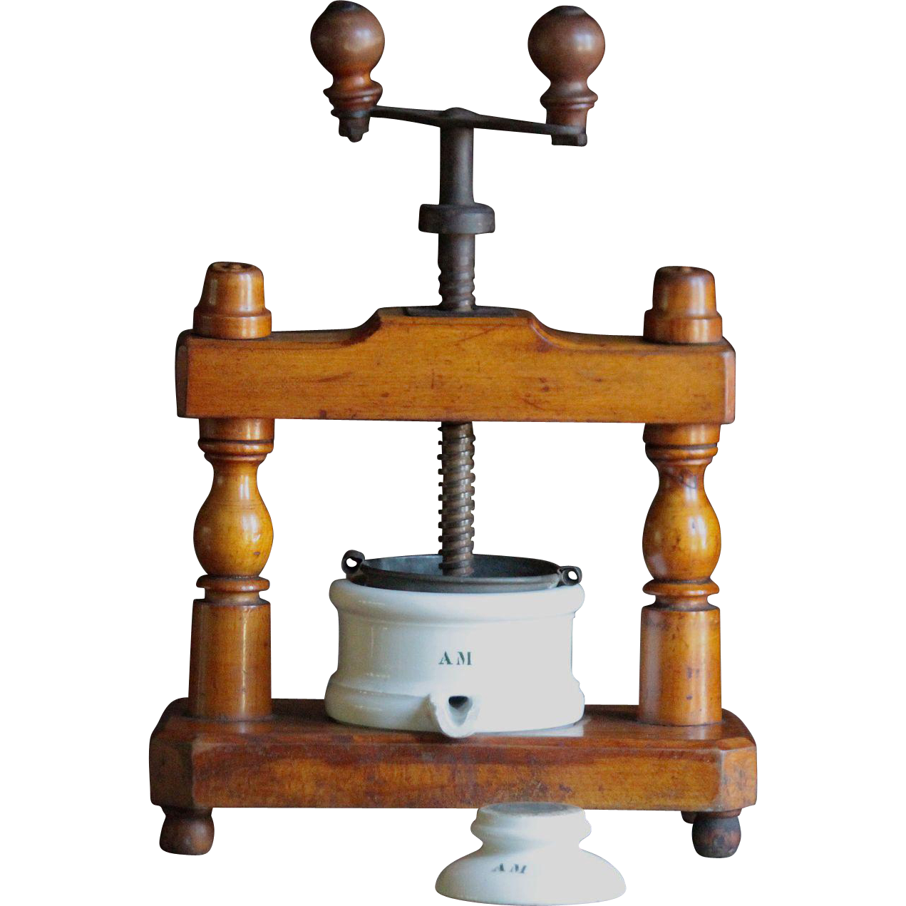 Antique 19th century french duck meat food press from for 19th century french cuisine