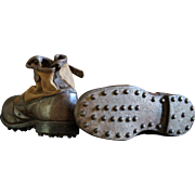 Vintage English Gentleman's High BROGUES Shoes, c.1910-20s - Mens Fishing Boots Sporting Goods