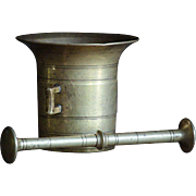 19th Century Brass Apothecary MORTAR And PESTLE