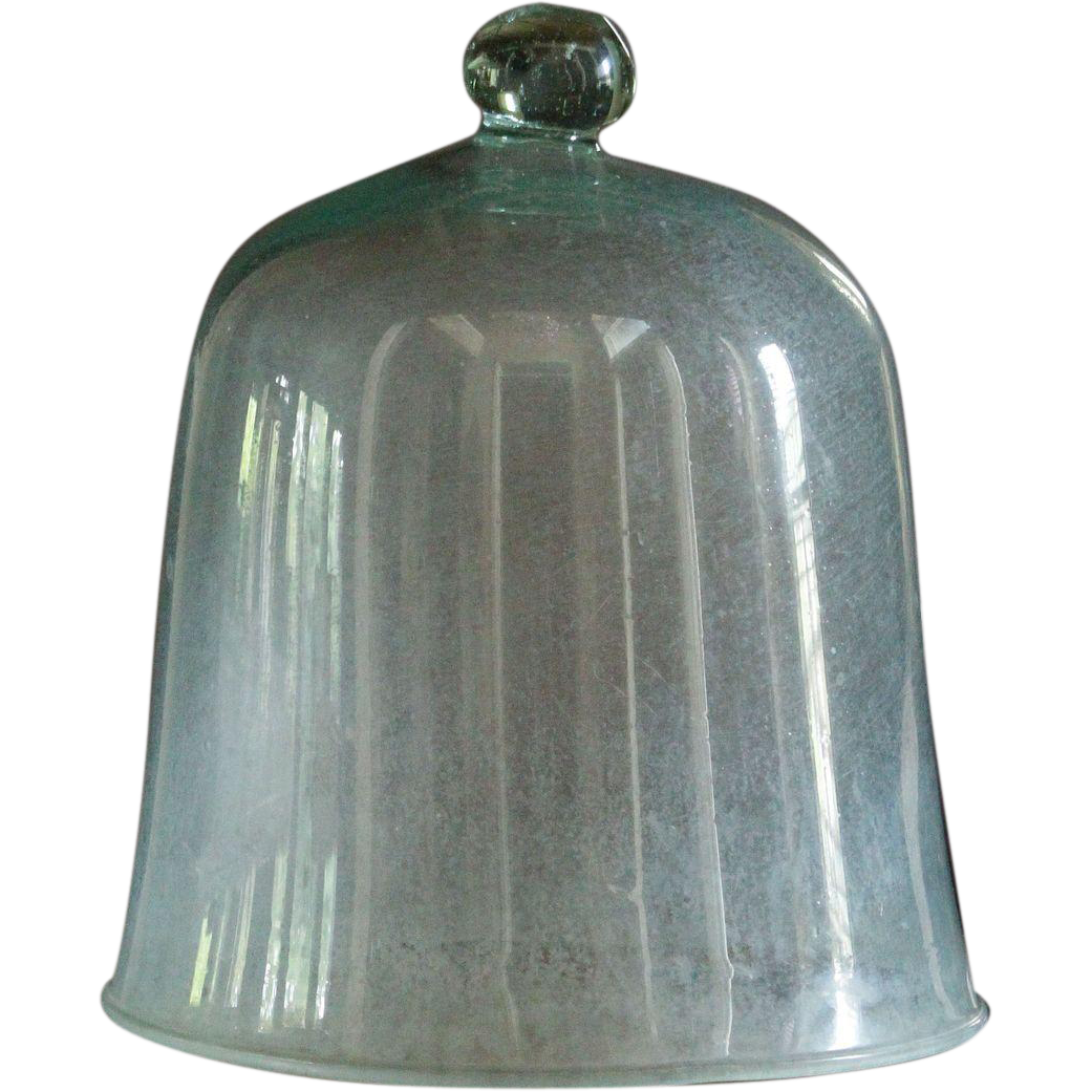 SMALL - Antique French Garden Glass Cloche - 19th Century Bell Jar / Dome