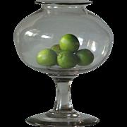 18th century Antique French Blown Glass Pharmacy - LEECH JAR - Medical / Scientific