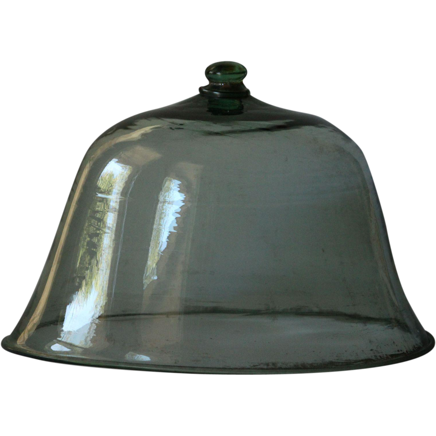 19th Century Glass Melon Cloche - Antique Garden Bell Jar - Glass Dome