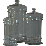 19th Century French Blown Glass Jars - Antique Apothecary / Chemist / Candy Store