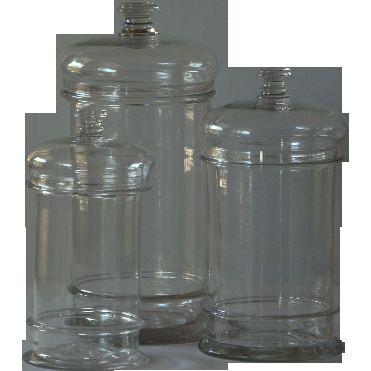 Antique Ruby Glass Jars
