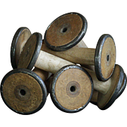 Vintage Textile Mill Bobbins - Salvaged Industrial Spools