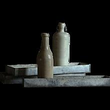 Salvaged Vintage Industrial Zinc Metal  Storage Trays - Bins