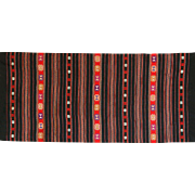 Vintage Balkan Woven Textile - Serbian Kilim / Table Runner Piece