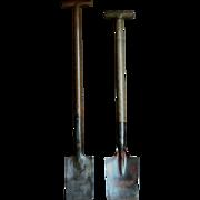 Antique English Planting Spades - Vintage Garden Tools