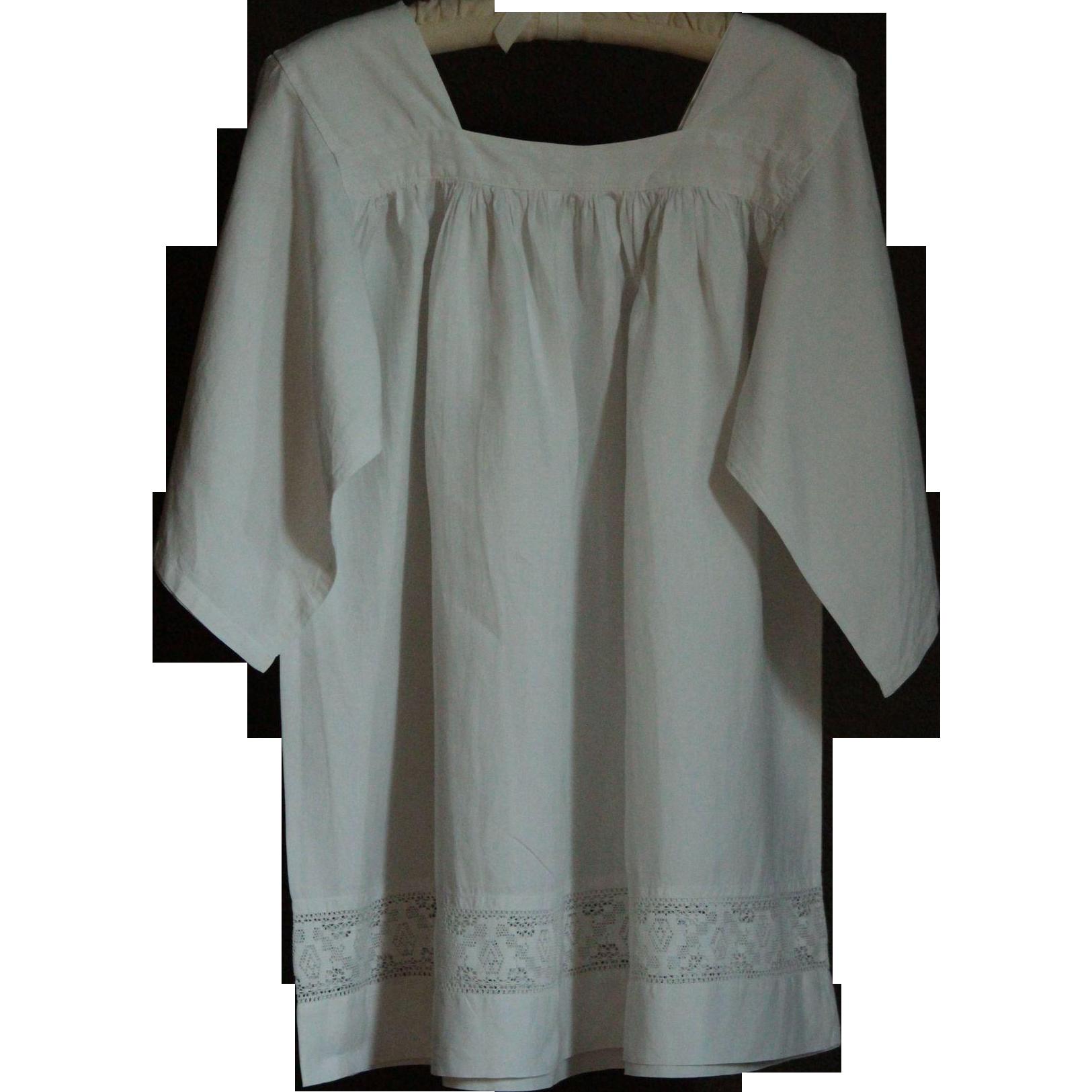 Antique Linen Vestment - Surplice - Religious Church Robe