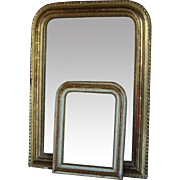 Antique French Wall Mirror - SMALL 19th Century Louis Philippe - Red Tag Sale Item